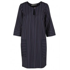 ACOTE Short straight striped wool dress Blue FRENCH STRIPES Womens Dresses RQBMSWF AB5A410-3212-FRENCH STRIPES