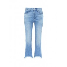 3x1 'W4 Shelter Austin' frayed cuff cropped jeans ULOWIMX Women Jeans 211152427