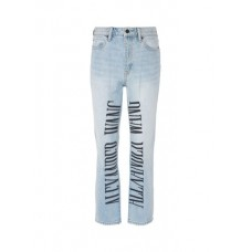 Alexander Wang Logo embroidered cropped jeans UUNYFRD Women Jeans 211173097