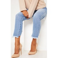 PrettyLittleThing Beige High Court Pu | Shoes - Beige - Womens Jeans CLX8533