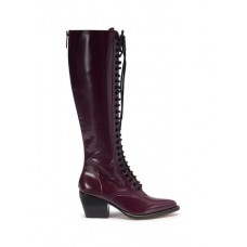 Chloé 'Rylee' lace-up knee high leather boots DRMUNCD Women Boots 221125521