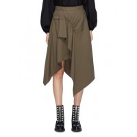 3.1 Phillip Lim Buckled ruched drape wool gabardine handkerchief skirt RXQUOOR Women Skirts 211168690