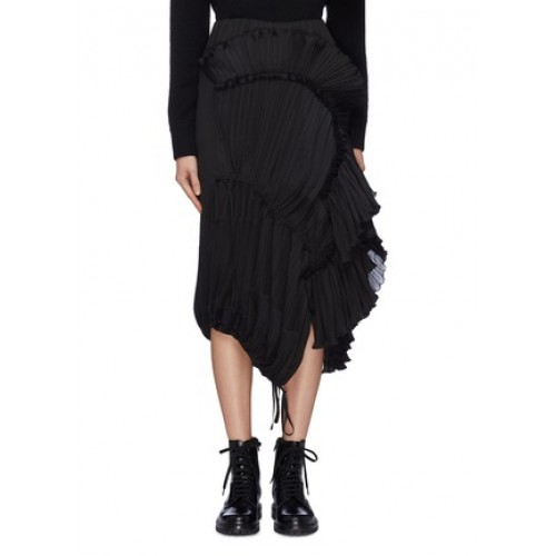 3.1 Phillip Lim Pleated ruffle drape skirt BKYSKXC Women Skirts 211187013