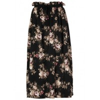 KARL MARC JOHN Long printed skirt with belt Black NOIR Women Skirts BKIWMHB 1018-JETSET-NOIR-NOIR