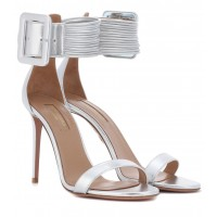 Aquazzura - Women Sandals Casablanca 105 leather sandals item no.P00302093 AWPKUOG