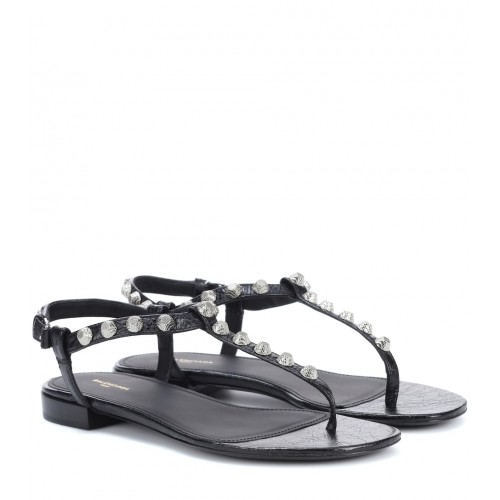 Balenciaga - Women Sandals Giant Stud leather sandals item no.P00268700 FRPKFGM