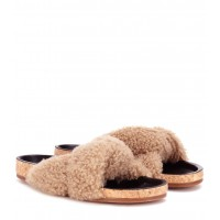 Chloé - Women Sandals Shearling slip-on sandals item no.P00274068 MWNMWAL