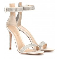 Gianvito Rossi - Women Sandals Lennox 105 suede sandals item no.P00295647 QXSPUPH