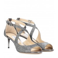 Jimmy Choo - Women Sandals Emily 65 glitter sandals item no.P00299372 ZMPUFDI
