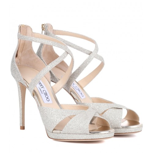 Jimmy Choo - Women Sandals Lorina 100 glitter sandals item no.P00299390 LIHNUJB