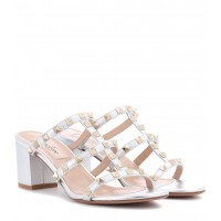 Valentino - Women Sandals Valentino Garavani Rockstud metallic leather sandals item no.P00298359 PMJVTBR