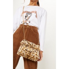 PrettyLittleThing Animal Faux Fur Cross Body | Accessories - Brown - Womens Jeans CLZ3427