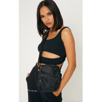 PrettyLittleThing Black Cross Body | Accessories - Black - Womens Jeans CLY6875