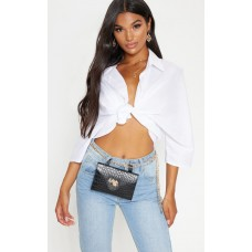 PrettyLittleThing Black Dragon Chain Belt Bag | Accessories - Black - Womens Jeans CLX2872