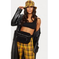 PrettyLittleThing Black Faux Shearling Bum Bag | Accessories - Black - Womens Jeans CLY5679