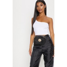 PrettyLittleThing Black Lion Bum Bag | Accessories - Black - Womens Jeans CLX0500