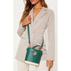 PrettyLittleThing Emerald Hard Cylindrical Cross Body - Emerald Green - Womens Jeans CLY7083