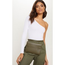 PrettyLittleThing Khaki Flat Rectangle Bum Bag | Accessories - Khaki - Womens Jeans CLY7636