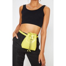 PrettyLittleThing Lime Croc Bum Bag Cross Body - Lime - Womens Jeans CLX9186