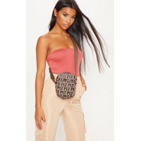 PrettyLittleThing Plt Brown Mono Cross Body Bag | Accessories - Brown - Womens Jeans CLX9172