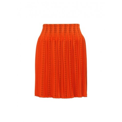 Alaïa Geometric cutout pleated knit skirt PTSYELT Women Skirts 211142631