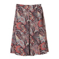 CAROLL Short printed crepe skirt with belt Blue MARINE FANTAISIE Women Skirts PYHEEOH KB010-ANDRIA-18F-MARINE FANTAISIE