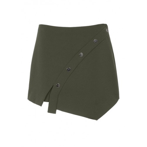 COP.COPINE Short asymmetric button-up skirt Khaki KAKI Women Skirts KGSOHUI VIETNAM-VE02-KAKI