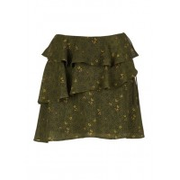 KARL MARC JOHN Short straight fluid skirt with ruffles Green SAPIN Women Skirts GRGWETZ 1064-JOANA-SAPIN-SAPIN