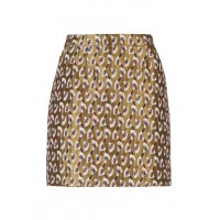 NAF NAF Short straight jacquard skirt FANTAISIE Women Skirts EQVUXEQ JHNJ40D-1756-FANTAISIE