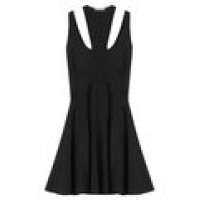 Alexander McQueen Mini Dress with Cut-Out Detail black 246406