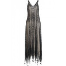 Alexander McQueen Silk Lace Dress with Pom Poms black 268861