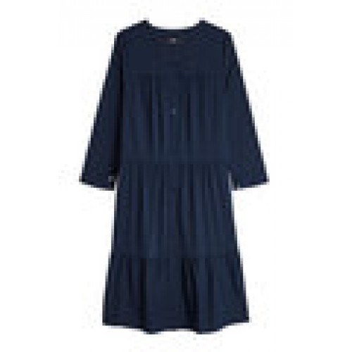 Button-Front Dress with Cotton blue 279982