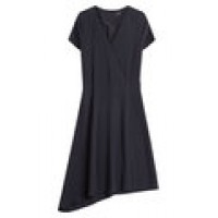 Draped Hem Crepe Dress blue 241620