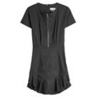 Dress with Cotton and Linen black 263735
