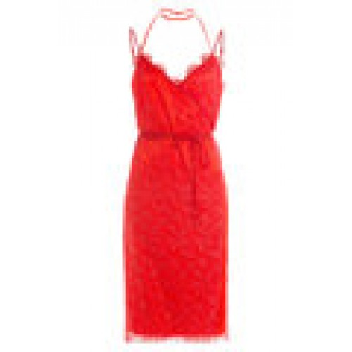 Dress with Lace red 253532
