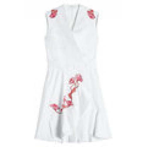 Embroidered Cotton Dress white 266756