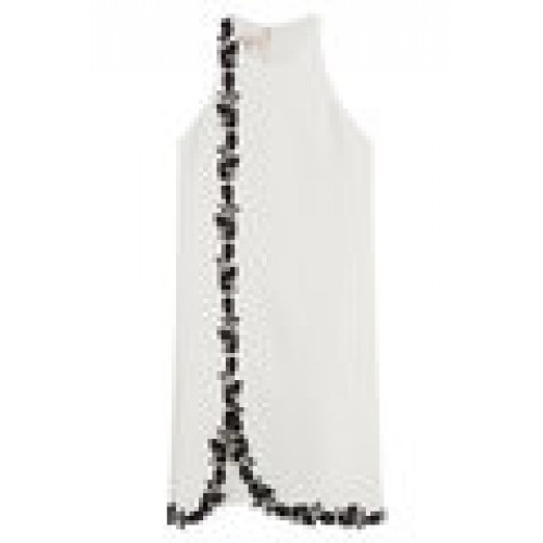 Embroidered Crepe Dress white 247431