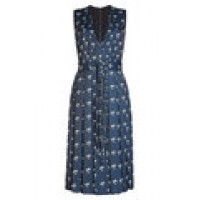 Maison Margiela Printed Crepe Dress blue 263162