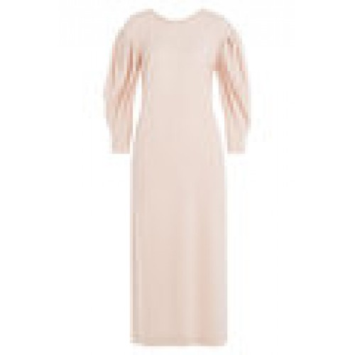 Midi Dress with Draped Sleeves pink 247138