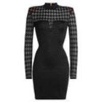 Mini Dress with Sheer Inserts black 251954