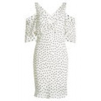 Printed Crepe Dress white 269051