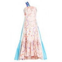 Printed Dress with Ruffles pink 269230