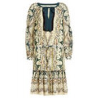 Printed Mini Dress with Cotton and Silk multicolored 260895