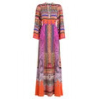 Printed Silk Maxi Dress multicolored 260810