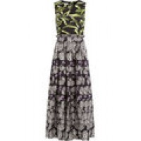 Printed Silk Midi Dress black 246752