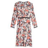 Sergio Rossi Floral Midi Dress with Silk florals 262537