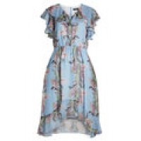 Tabitha Simmons Flower Print Dress with Ruffles florals 279938