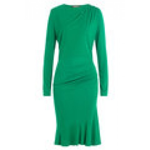 Valentino Draped Dress with Embellished Stars green 250239