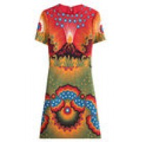 Volcano Virgin Wool Dress with Silk multicolored 249095