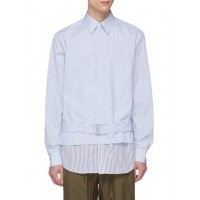 3.1 Phillip Lim Belted stripe layered shirt jacket HLWROCW Men Jackets 211166164